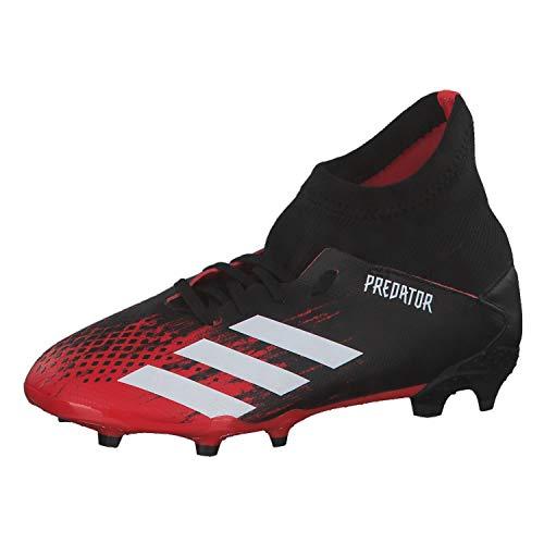 adidas Unisex Kinder Predator 20.3 Fg J Fußballschuhe, Multicolor (Core Black/FTWR White/Active Red), 34 EU