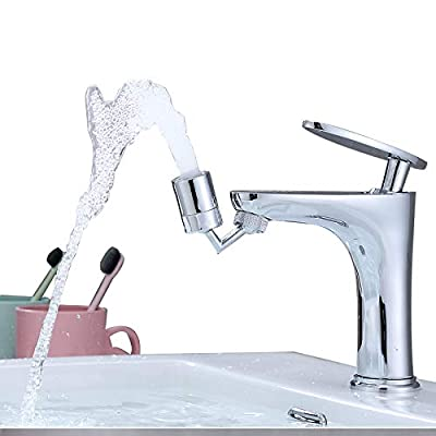 """360° Swivel Faucet Sink Aerator, Eyewash Stations Faucet Mounted Aerator Sink Attachment for Bathroom,Dual Function Kitchen Faucet Aerator for Face Washing, Gargle & Eye Flush-15/16""""-27UNS Male Thread"""