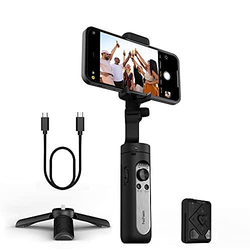 Hohem iSteady X2-3-Axis Smartphone pieghevole Gimbal Handheld Stabilizzatore con telecomando Tipo C Ricarica inversa compatibile con iPhone 12 11 Pro Max Samsung S20 per Vlog YouTube Live Video Record