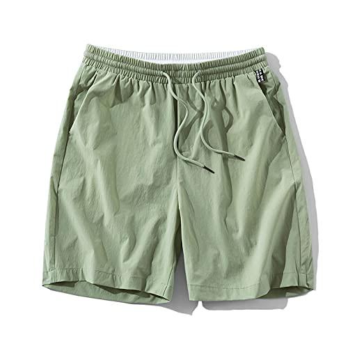 Pantaloncini da Uomo Men's Shorts Solid Color Colorful Beach Shorts Fashion Breathable Skin-Friendly Cotton Lightweight Drawstring