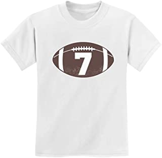Gift for 7 Year Old Boy Football 7th Birthday Youth Kids T-Shirt