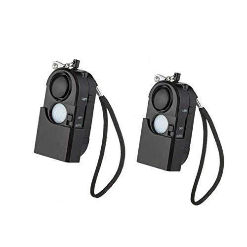 Sirenen, Taschenalarm【2 Stück 】120 db Persönlicher Alarm mit LED Mini-Personenalarm-Infrarotalar Notfallalarm Taschenlampe für Kinder, ältere Menschen Hotel Camping Tür Fenster