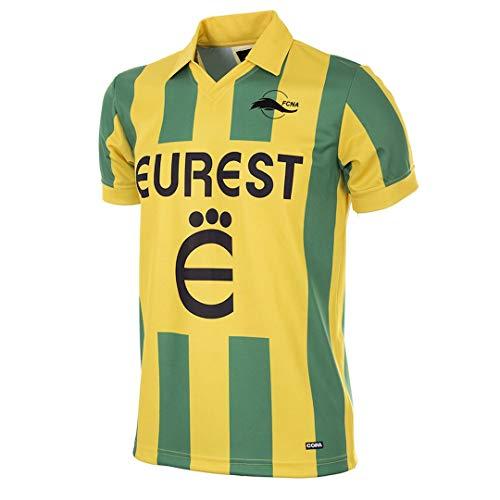 Copa Herren FC Nantes 1994-95 Football T-Shirt mit Retro-Fußballkragen, grün/gelb, S