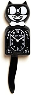 California Clock, Kit-Cat Large Clock Bundle, Classic Large Black BC01 Clock, Round Cat Clock, Two C Batteries and Gift No...