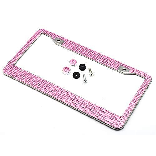 XuBa frame voor nummerplaat, roestvrij staal, kleurniveau-indicator op 8 rijen met frame en deksel voor diamant Eén maat Poeder