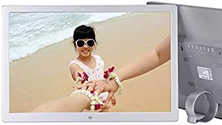 Digital Photo Frame,21 Inch Silver Digital Photo Frame LCD Screen 1920 * 1080,MP3/MP4 Video Player Electronic Picture Album,Silver