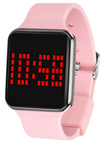 WUTAN Reloj Digital Deportivo para Mujer con Pantalla táctil LED, Informal, electrónico, Deportivo, Unisex, con Correa de Silicona