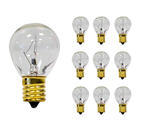 Sterl Lighting - Pack of 10 S11 Clear Sign Indicator Lava High - Intensity Lamp - Incandescent Light Bulb - 40 Watts - 120 Volts - E17 Intermediate Base - 2700K - 320 Lumen