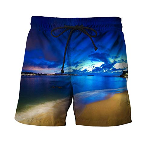 Stone Surfing Men Shorts Summer Beach Pant 3D Printer Clothing Swim Loose Shorts Quick Dry Bodybuilding STKQ015 S