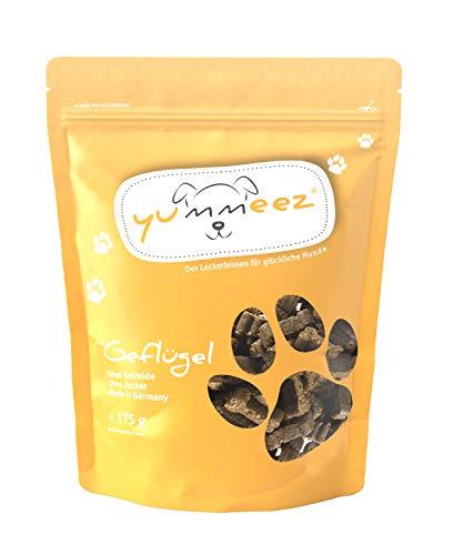 Yummeez Geflügel Leckerli - Hundeleckerli als kleine Knöchelchen - getreidefrei mit hohem Fleischanteil - perfektes Leckerchen für Training oder Belohnung (1 x 175 g)