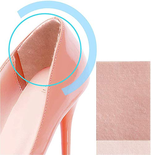 Povihome Moleskin Blister Pads, Heel Cushion, Heel Blister Prevention to Protect Skin from Rubbing Shoes