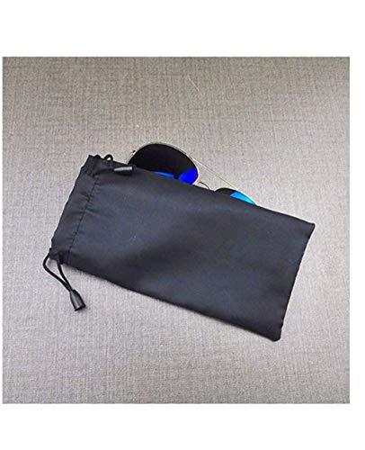 ANNIUP 20 Pcs Sunglass Pouch Portable Eyeglass Bags Pouch Waterproof Glasses Bag Drawstring Design Storage Bag for Eyewear, Sunglasses, Gadgets,Black