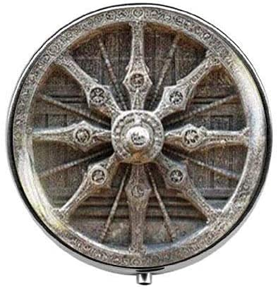 Dharma Wheel - Pastillero budista de mandala - Pastillero con encanto -...
