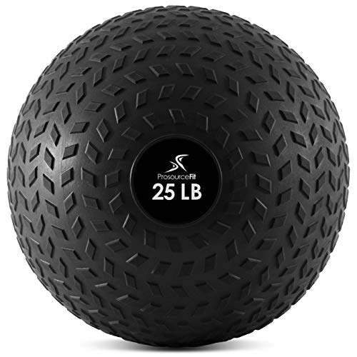 ProsourceFit Slam Medicine Balls 25 Lbs Tread Textured Grip Dead Weight Balls for Crossfit, Strength & Conditioning Exercises, Cardio & Core Workouts (ps-2221-tsb-25)