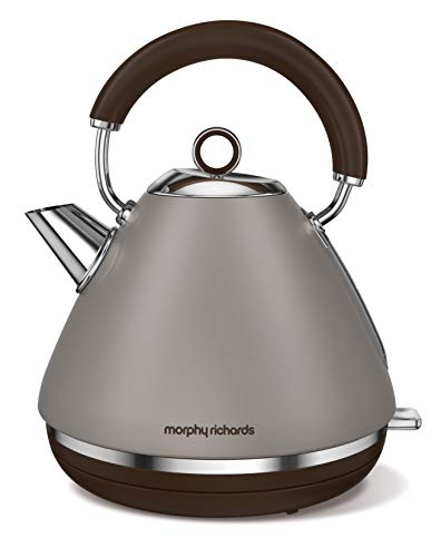 Morphy Richards Wasserkocher Accents Special Edition steingrau 102102, 2200, Aluminium