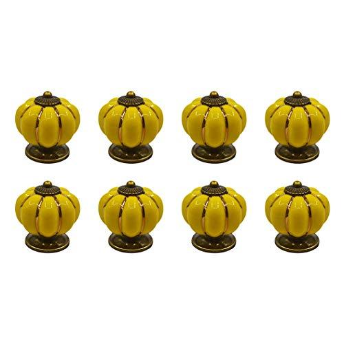 8 Schublade zieht Cool Kürbis Design Schrank Knöpfe Griffe Hardware für Türen Schubladen, gelb