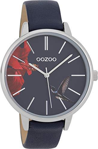 Oozoo Reloj de pulsera para mujer con correa de cuero de 42...