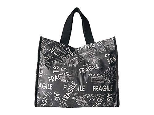 MM6 Maison Margiela Women's Fragile Shopper Tote Black/White One Size