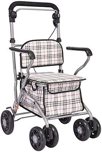 SUOMO Rollatoren 2-in-1 Rollator Walker und Transit Chair - ältere Einkaufswagen Gehhilfe Gerät Rollator - Leichte Aluminiumrahmen - höhenverstellbar