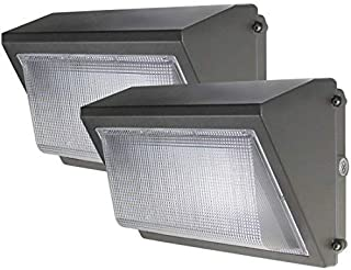 (2 Pack) Dakason LED Wall Pack 60W with Dusk-to-Dawn Photocell, Replaces 150-250 HPS/MH, 5000K Cool White 7200lm 100-277Vac, Commercial Grade IP65 Waterproof Outdoor Lighting Fixture ETL DLC Listed