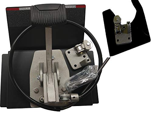 """Universal Dual """"Brake"""" Set WITH NO DRILLING ANYWHERE, Instructors Passenger Side Brake, School Student Drivers Ed Training Brake Pedal Set (COMPATIBLE FOR 2019 Volkswagen Jetta, Tiguan)"""