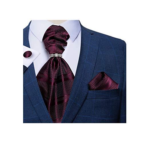 WALNUT Hombres Silk Pie Necktie Men's Formal Body Fiesta Corbatas Pantalones Gemelos Conjunto de Hombres Regalo (Color : B)