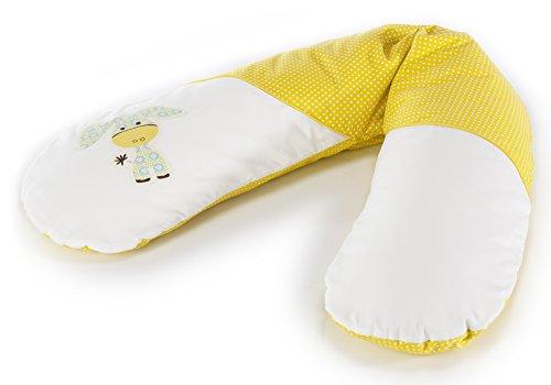 Ersatzbezug für Das Original THERALINE Schwangerschafts- & Stillkissen|100% Baumwolle| Applikation Esel akazia gelb