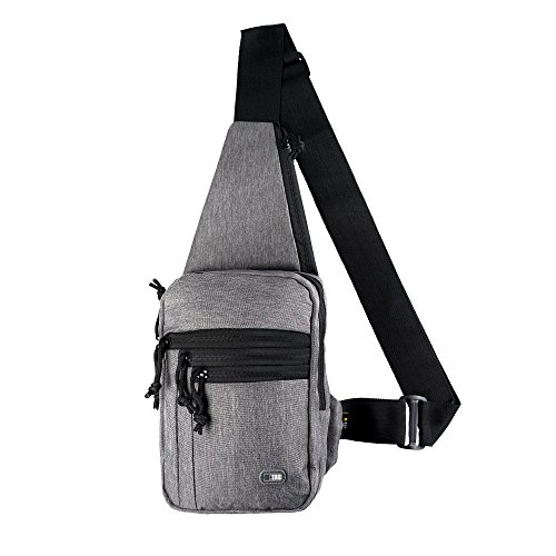 M-Tac Tactical Bag Shoulder Chest Pack with Sling for Concealed Carry of Handgun (Grey Melange)