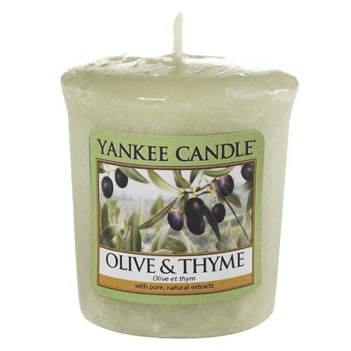Yankee Candle 49 g Olive and Thyme Votive/Sampler Candle, Green, 4.6x4.5x5.3 cm