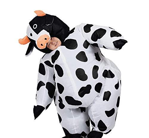 ZYC-WF Aufblasbare Clothingadult Weiblich Mann-Halloween-Party-Kleid In Aufblasbare Kuh-Kostüm Sprengen Anzug Tier-Maskottchen-Kostüm
