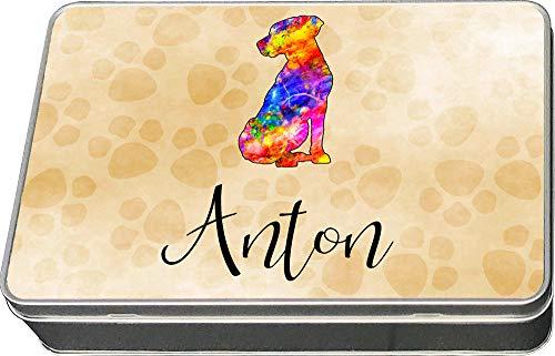 Cadouri Leckerli-Dose LABRADOR - personalisiert - mit Name deines Hundes┊Snackdose Keksdose Blechdose Aufbewahrungsdose┊tolle Geschenkidee für Hundebesitzer