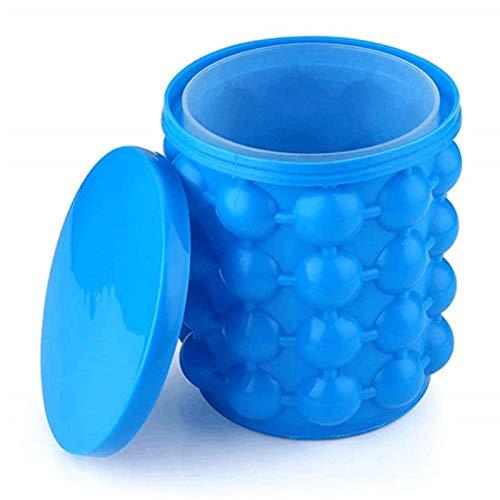 YSPS Silicona Hielo Cubo-Mini refrigerador/congelador Fabricante, Flexible y Gran Capacidad, Adecuado para cócteles, jugos y Otras Bebidas, Azul, 14x12cm