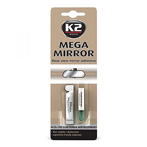 K2 Mega Mirror, Spiegelkleber Innenspiegelkleber, Rückspiegelkleber, Glas-Kleber, Klebstoff 6ml