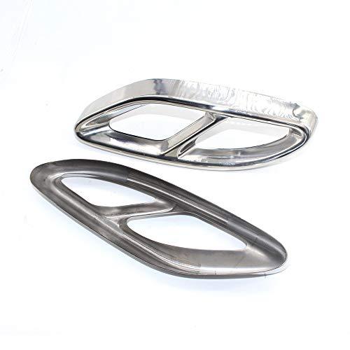 LQIAN Set Auto-Zylinder Auspuff-Abdeckungs-Ordnung Gepasst Fit for Benz W212 W213 14 + Abluftabdeckung Trim