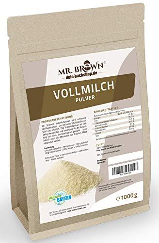 Mr.Brown Vollmilchpulver 1 kg, zum Backen, sprühgetrocknet, Milchpulver als Alternative zur...