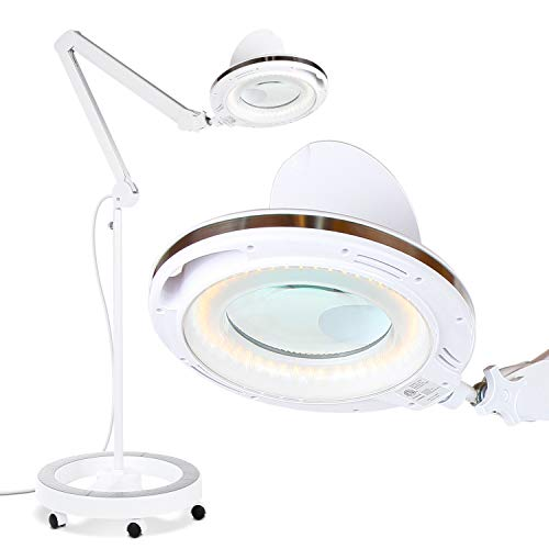 Brightech LightView Pro LED Magnifying Glass Floor Lamp - 6...