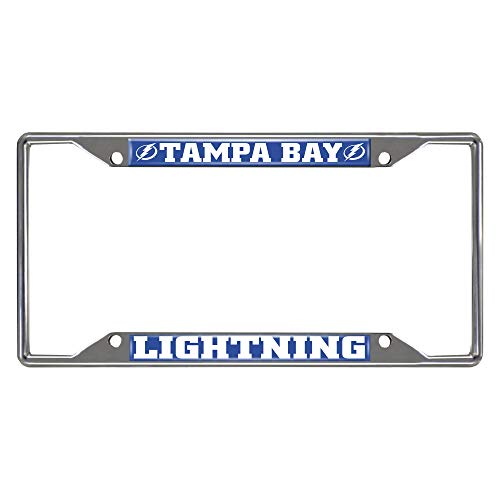 FANMATS NHL Tampa Bay Lightning License Plate Framelicense Plate Frame, Team Colors, One Sized