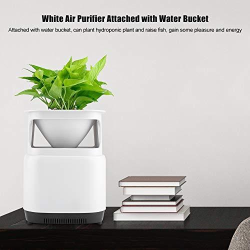 GOTOTOP Weiß Luftreinigung mit negativen Ionen, 3-Schichten-Filter Mini-Luftreiniger, einfacher und modischer Luftreiniger mit kleinem Blumentopf, bis zu 10 m2, 50m3 / h, Acryl-Touchpanel