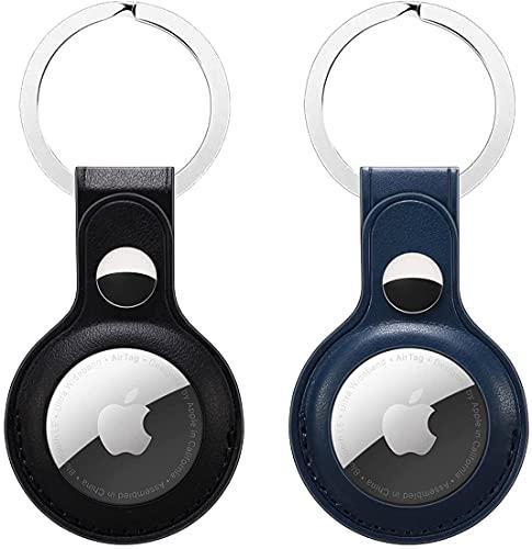 2 Piezas De Funda Protectora Airtags, Para Llavero Apple Airtag, Con Anillo De Llavero, Funda Protectora Ligera Antirrayas, Funda Protectora Bluetooth Tracker Para Airtags
