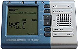 Totalbrass® TTM-800 - metrónomo y afinador electrónico cromático Trompetas Saxofón Clarinete Flauta Barítono Bombardino Tuba