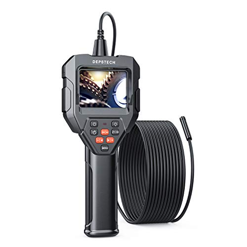 Digital Hand-held HD Endoscope, DEPSTECH Borescope 2.8in LCD, Inspection Camera Waterproof Probe with Snake Cable, Zoom Function, 2600mAh Battery, 2.76-15.7in Focal Range, 16.5FT