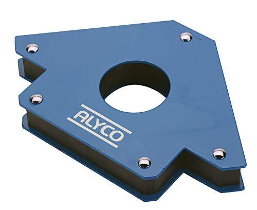 Alyco 197990 Ángulo Magnético Soldadura, Azul, 85 mm