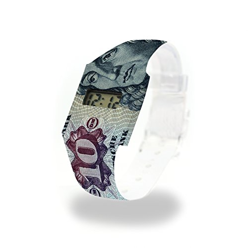 10 D-Mark Pappwatch/Paperwatch/Digitale Armbanduhr aus Tyvek® - absolut reissfest und wasserabweisend -...