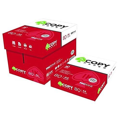 Cajas Folios Din A4 80 Gramos Copy Paper 10 Packs de 500 hojas (5.000 folios A4) : Paquete de 500 hojas, formato A4 y gramaje de 80gr Producto de alta calidad de la marca Copy Paper Mejor relación Calidad Precio