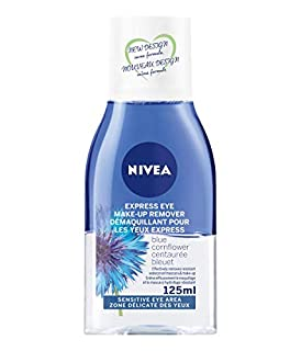 NIVEA Express Eye-Makeup Remover (125mL), Makeup Remover for All Skin Types, Gentle Facial Cleanser with Bi-Phase and Blue Cornflower Formula, Removes Waterproof Makeup (B00BO0A4YC)   Amazon price tracker / tracking, Amazon price history charts, Amazon price watches, Amazon price drop alerts