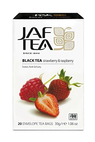 JAF TEA Schwarzer Tee - Erdbeere & Himbeere - 20 Teebeutel