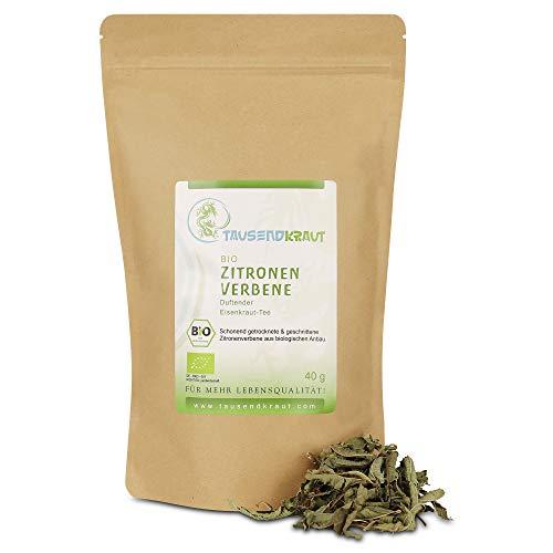 Zitronenverbene BIO (40g) Duftender Eisenkraut Tee [Zitronenstrauch, Verveine, Aloysia citrodora] Tausendkraut