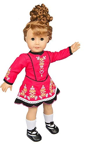 Irish Step Dancing Doll Outfit (4 Piece Set) -...