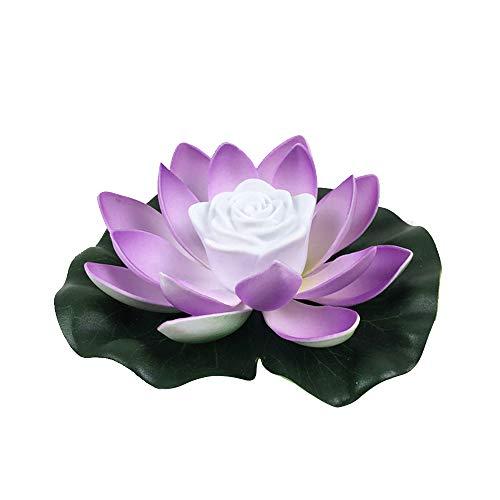 Singeru Lotus-Licht, schwimmendes Licht, Lilienblume Licht, Segen Kerze, Blume, Wunschlicht, Lotus, Nachtlicht, Blume, Nachtlicht, Pool, Garten, Aquarium, Hochzeitsdekoration C