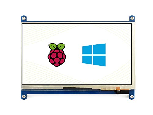 Waveshare 7 Inch 1024600 Capacitive Touch Screen LCD Display Hdmi Interface Custom Raspbian Angstrom Supports Various Systems for All Ver. Raspberry Pi Beaglebone Black Banana Pi Ro Video Phot